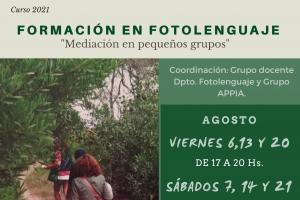 """FORMACIÓN EN FOTOLENGUAJE """"Mediación en pequeños grupos"""""""